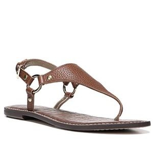 🆕'Greta' Leather Thong Sandal